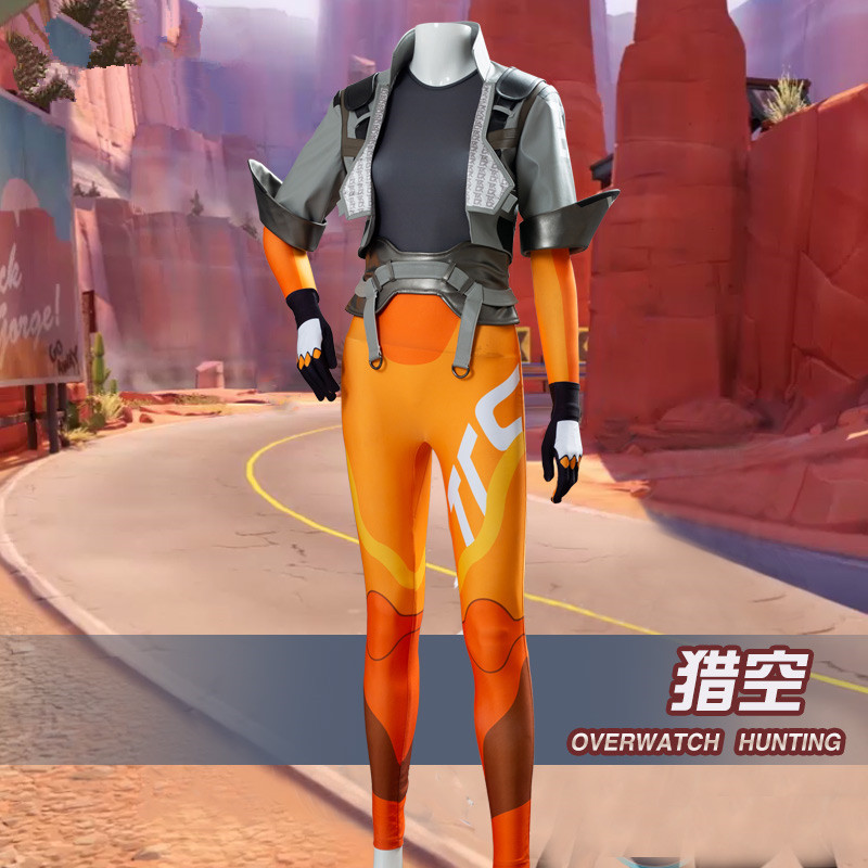 Tracer cosplay costume coat shirt pants daily set suit 2