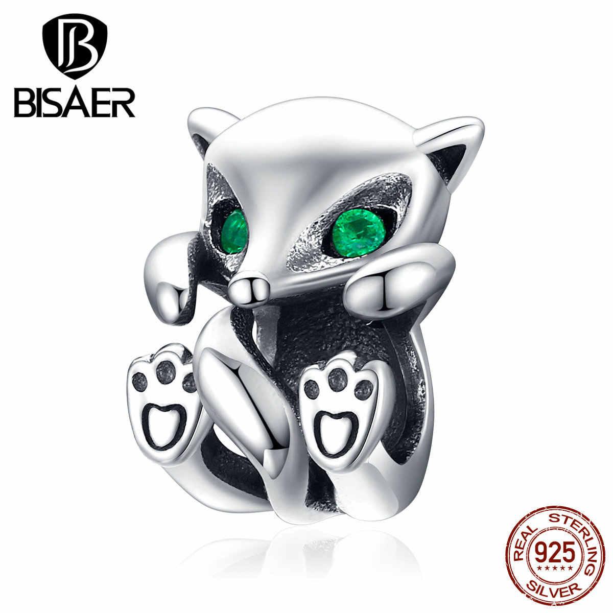 חמוד בעלי החיים שועל קסם סטרלינג כסף תליון קסם Fit פאן קסמי מקורי 925 צמיד תכשיטים HSC1290