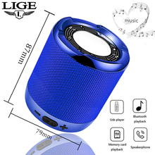 LIGE Stereo New Portable Bluetooth Speaker Sound System 10W Music Surrounding Waterproof Outdoor TF USB AUX + B