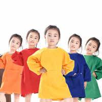 Детские нагрудники ярких цветов, дышащий передник с длинными рукавами, комбинезон для кормления, одежда для детей, фартук для рисования