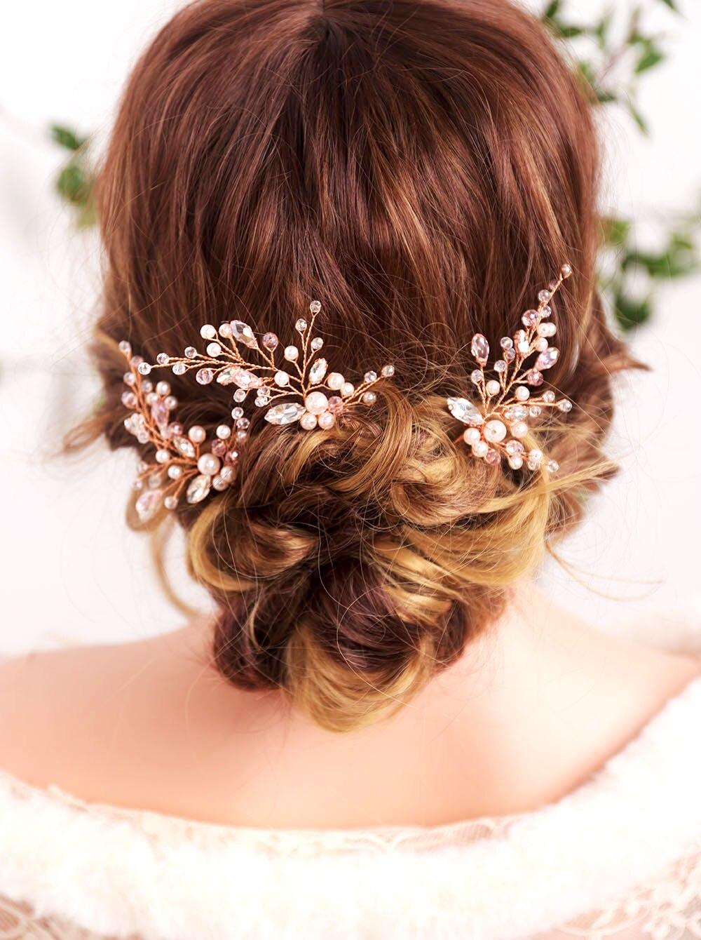 Handmade Cloth Chiffon Ivory wedding headdress flowers with beads artificial crystal balls Peals for bridal and bridesmaid wedding headwear