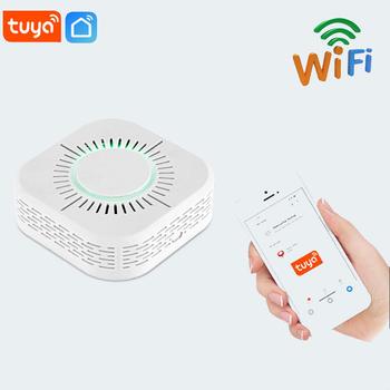 1pc Wifi detektor dymu s ochrona przeciwpożarowa przenośny detektor dymu sejf domowy czujnik dymu bezpieczeństwa dla automatyki domowej 2021 tanie i dobre opinie NONE CN (pochodzenie)