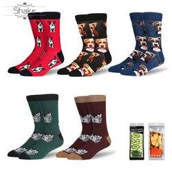 Jurk Sokken Voor Mannen & Vrouwen, Cool Kleurrijke Fancy Novelty Grappig Casual Cotton Crew Sokken Met Crazy Honden Patroon