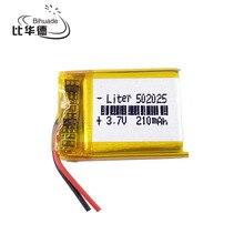 1 pz/lotto agli ioni di 3.7 V 210 mAH 502025 Polimeri di litio/Li Ion batteria Ricaricabile per DVR, GPS, mp3, mp4