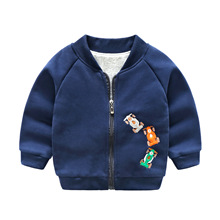 2019 Spring Autumn Children Jackets Cotton Cartoon Dinosaur Baby Boys & Girls Outerwear Coats Casual Baseball Jackets for Boys hooded jackets for girls children outerwear cotton cartoon mouse girls baseball trench letters coats for 4 6 8 10 12 14 years