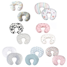 2Pcs Baby Feeding Pillowcase U Shaped Cushion Breastfeeding Nursing Pillow Cover A2UB