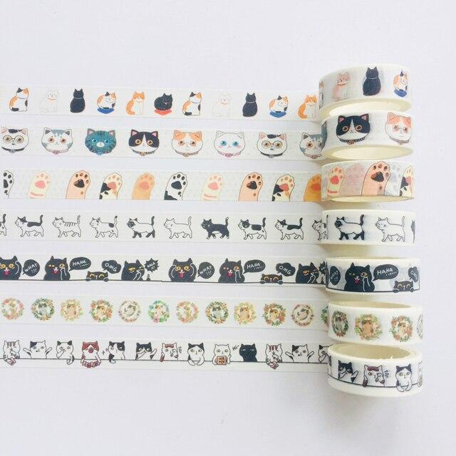 Cute Kawaii Adorable Cat Adhesive Paper Washi Tape Masking Tape DIY Scrapbooking Stick Label 1