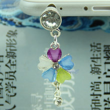 3.5mm Crystal Flower Earphone Anti Dust Plug Cap Stopper For iPhone HTC Samsung(China)