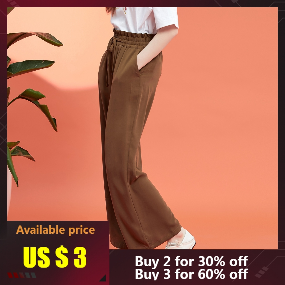 Metersbonwe Wide Leg High Waist For Women Long Trousers Woman Wide Leg Loose Pants High Quality Stretch Waist Office Lady Pants
