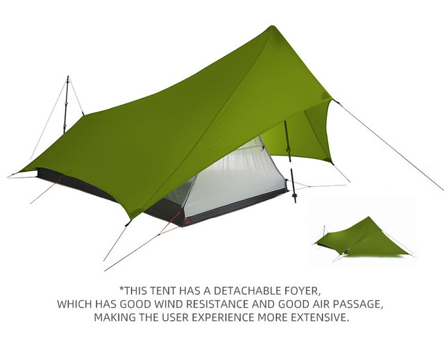 Ultralight Xunshang Flames Creed  Tent 20D Silicon shelter 4