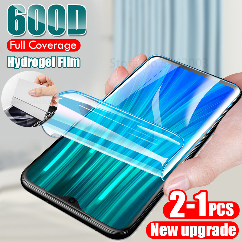 3-1PCS 600D <font><b>Hydrogel</b></font> Film For Xiaomi <font><b>Redmi</b></font> note <font><b>8</b></font> 8A 7 7A 6 6A 9S 5 7 <font><b>8</b></font> 8T 9 Pro Max K20 Screen Protector Not Glass image