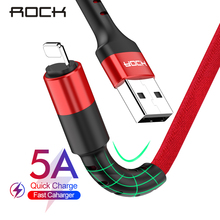 ROCK Knit USB Cable For iPhone 11 pro max Xr X 8 7 plus iPad Fast Charging