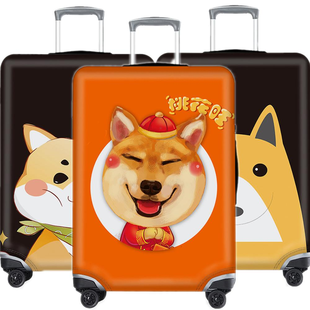 Travel Accessories 3D Luggage Cover Protective Case Creative Kawaii Dog Waterproof Elastic Suitcase Cover Apply 18-32Inch XL