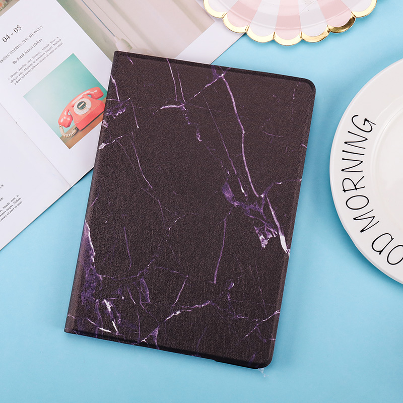 PC Smart iPad 10.2inch Back Magnetic PU Cover 2019 Case Marble Texture 2020 for Leather