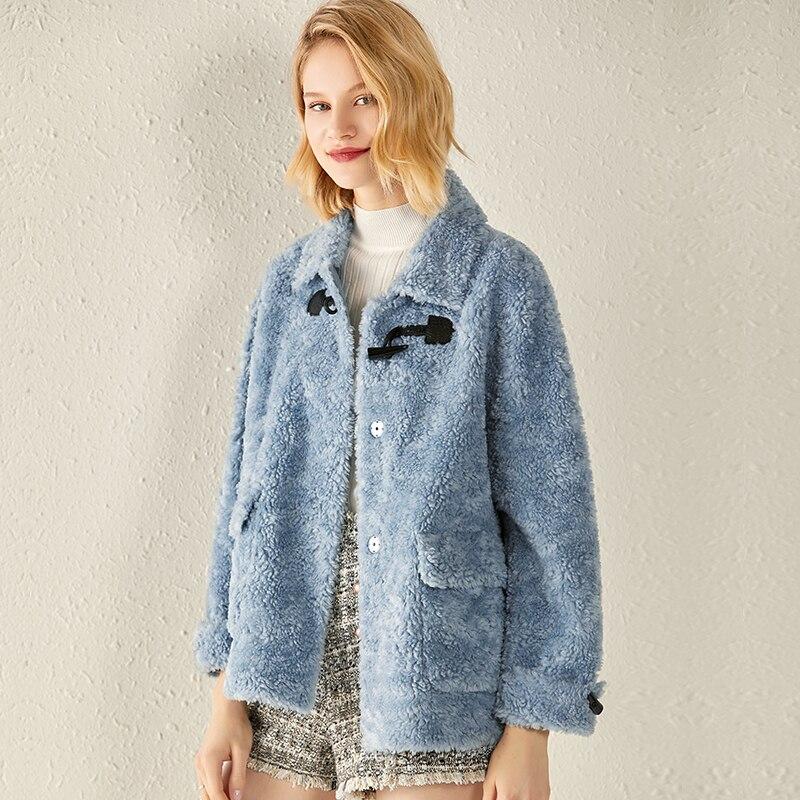 Real Fur Coat 100% Wool Jacket Autumn Winter Coat Women Clothes 2020 Korean Vintage Sheep Shearling Tops Suede Lining ZT3916