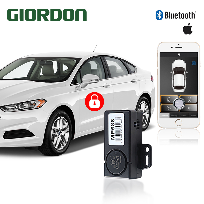 Smartphone Car Alarm System Shaking Mobile Phone 2 Times To Unlock/lock.Original Car Siren Or Turning Light Output Indication.