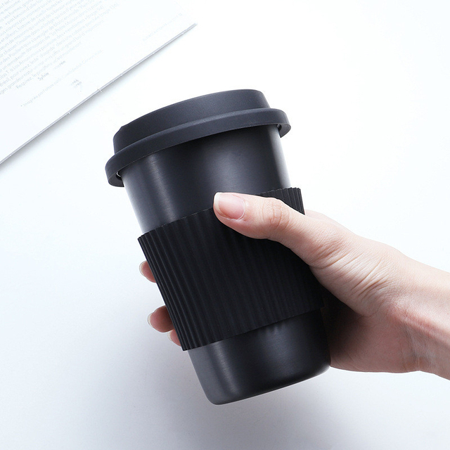 Soffe Coffee Mug With Cup Sleeve 350ml 500ml Titanium Travel Mugs Portable Food Grade Stainless Steel Drink Water Bottle 1