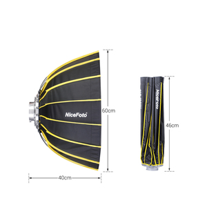 Image 4 - NiceFoto Studio Fast Installation Hexagonal Softbox 60cm / 23.6inch with Soft Diffuser Cloth for Speedlite Photography Light