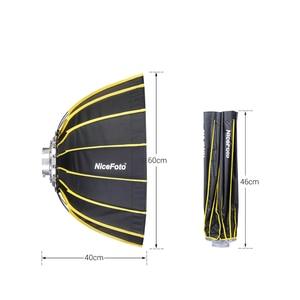 Image 4 - Nicemoto Softbox Hexagonal de Instalación rápida para estudio, 60cm/23,6 pulgadas, con paño difusor suave para luz de fotografía Speedlite