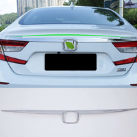 for Honda 10th Accord 2018 2019 ABS Chrome Rear Trunk Lid Tailgate Door Cover Trim Garnish Car styling accessories 1pcs