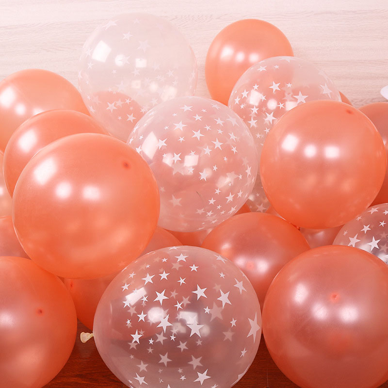 20pcs 12 inch Latex Star Gold Pink Balloon Set For Wedding And Home Decoration