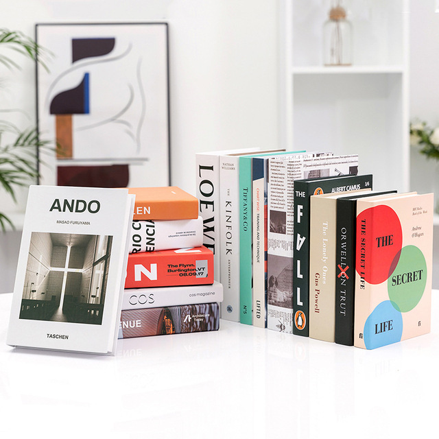 Modern Simple Home Decorative Book Simulation Book Decor For Club Hotel Model Room Study Soft Fake Book Model 4