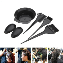 6Pcs Hair Coloring Dyeing Kit Tint Double-sided Comb,Hairdressing Brushes Bowl Combo Salon Color Dye Tool