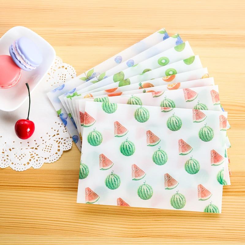 8 PCS/lot Envelopes For Invitations Folding Greeting Card Paper Envelope Cute Envelopes Fruits Patterns Mini Envelope