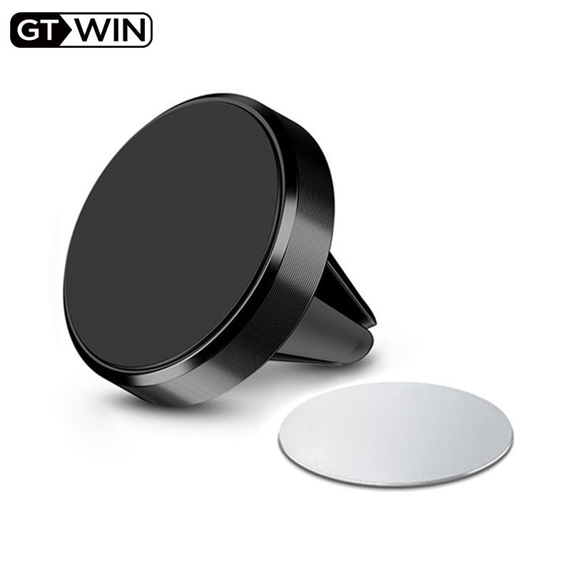GTWIN Magnetic Car Phone Holder For IPhone Samsung Huawei Xiaomi Air Vent Mount In Car Metal Magnet Stand Mobile Phone Support