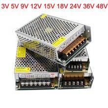 Alimentation électrique, transformateur buck, entrée 220V, abaisseur 3 5 9 12 15 18 24 36 48 V, type nid d'abeille à coque en aluminium, support d'alimentation