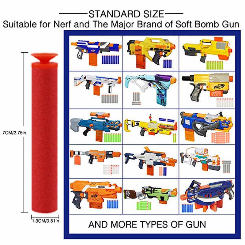 Red Sucker Peluru Mainan untuk NERF Soft EVA Hisap Kepala Isi Ulang Darts Mainan Anak Pistol untuk NERF Series Blasters Xmas anak Anak Hadiah