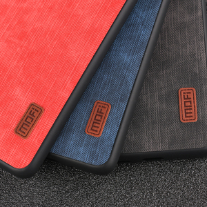Image 5 - Mofi สำหรับ Xiao Mi cc9 Pro สำหรับ Mi Note 10 Pro ฝาครอบซิลิโคนกันกระแทกกางเกงยีนส์หนัง PU สีดำ TPU Mofi ต้นฉบับ