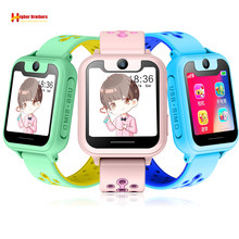 Smart GPS LBS Tracker Locator Kids Baby Student SOS Call Remote Monitor Camera Alarm Clock Anti-lost Smartwatch Watch Wristwatch(China)