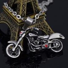 Wawfrok homens colar de aço inoxidável homens pingente crime crânio motocicleta pingente colar erkek kolye corrente colares jóias