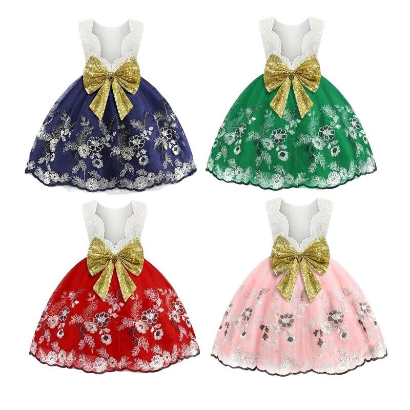 Baby Girl Baby Princess Dress Girl Bow Lace Dress Girl Girls Birthday Party Holiday Party Dress Baby Girl Girls Casual Dress