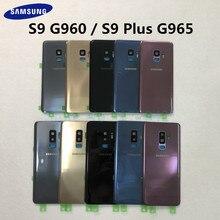 Samsung задняя Батарея Крышка для samsung Galaxy S9 плюс s9+ G965 SM-G965F G965FD S9 G960 SM-G960F G960FD сзади Стекло чехол