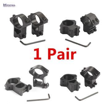 1 Pair MIZUGIWA Scope Mount Rings 25.4mm / 30mm Weaver 11mm / 20mm Picatinny Rail For Optics Sight Pistol Airsoft Accessories