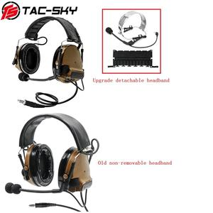 Image 5 - TAC SKY military walkie talkie adapter KENWOOD U94 PTT + COMTAC III silicone earmuffs noise reduction pickup tactical headset CB