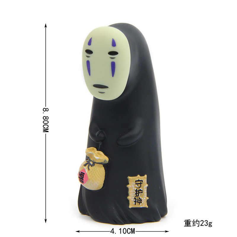 2019 estúdio ghibli espírito afastado sem rosto homem vinil figura de ação miyazaki hayao anime kaonashi modelo 8cm decoração boneca brinquedo do miúdo