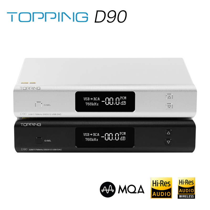TOPPING D90 MQA AK4499 AK4118 Full Balanced DAC Bluetooth 5.0 DSD512 Hi-Res Decoder