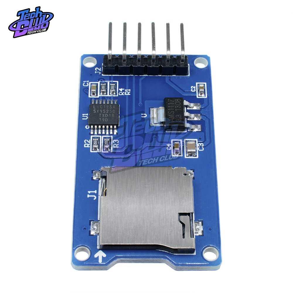مايكرو SD بطاقة صغيرة TF وحدة قراءة بطاقات SPI واجهات مع مستوى محول رقاقة لاردوينو