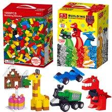 1000Pcs City Building Blocks Sets DIY Creative Bricks LegoINGLs Classic Creator Parts Brinquedos Educational Toys for Children