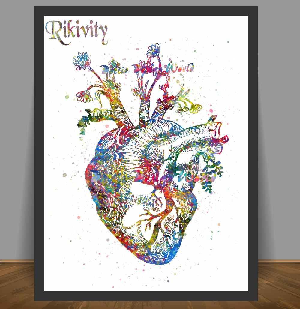 Rikivity Insan Anatomi Posteri Baskilar Tuval Boyama Tibbi Insan
