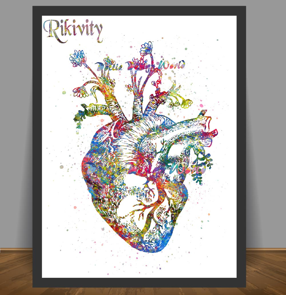 Rikivity Human Anatomy Poster Prints Canvas Painting Medical Human