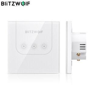 Image 1 - BlitzWolf BW SS3 10A WIFI Presa di Contatto Della Parete di Telecomando Smart Switch Pannello In Vetro Temperato di Lavoro con Alexa / Google Assistente