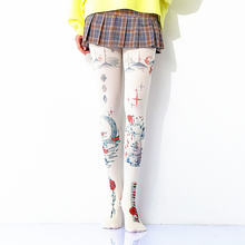 Женские колготки в стиле Харадзюку Колготки с принтом