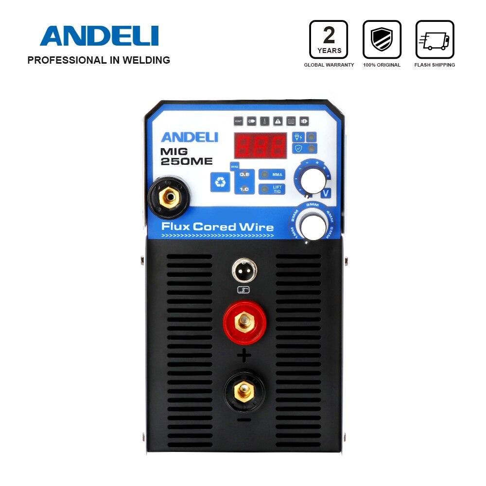 ANDELI Ménage 220V MIG-250ME Multifonctionnel MIG Soudage Machine Ascenseur TIG MMA MIG 3 en 1 Soudure sans Gaz Fil de Noyau De Flux
