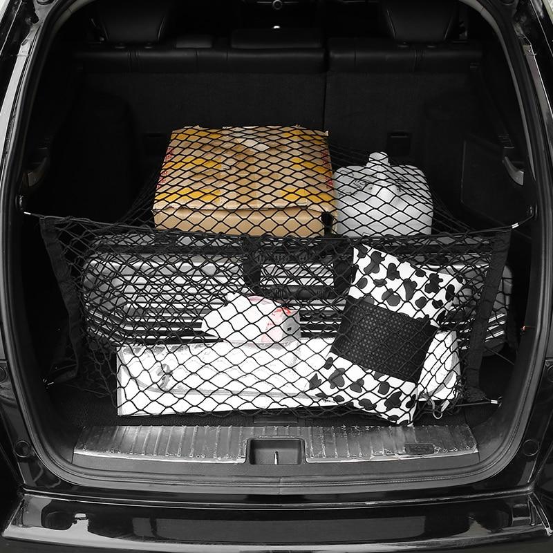 Universal malha no tronco carro net auto fixo elástico capa de viagem carga sundries organizador saco de armazenamento acessórios interiores