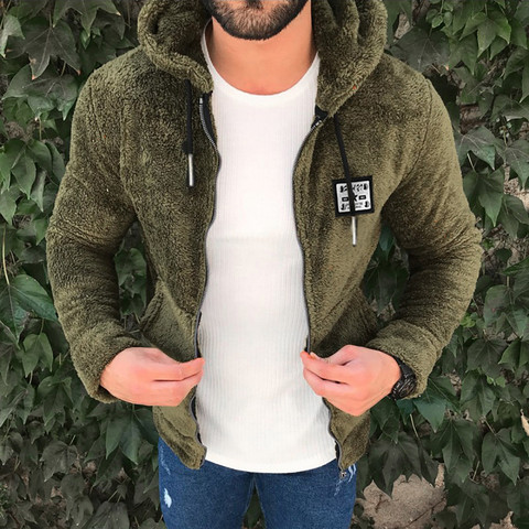 Mens New Fashion Casual Zipper Loose Double-Sided Plush Hooded  Jackets Clothing US Size Up to 3XL Hip Hop Slim Fit Pilot Coat Multan
