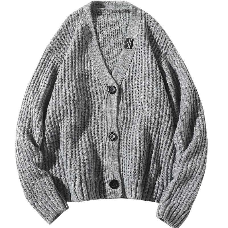 Nuovo 2019 di Lana Grossa Mens Maglie e Maglioni Tendenza Uomo Cardigan di Modo Allentato Uomini Maglione Lavorato A Maglia Streetwear Designer Maglie e Maglioni KK3131